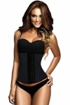 Black-4-Steel-Bones-Latex-Under-Bust-Corset-LC5374